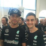 Lewis and Nico at Mercedes F1 factory