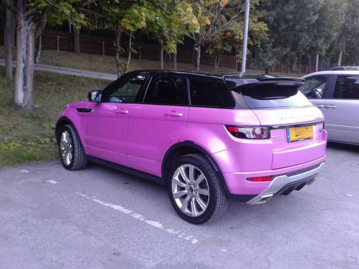 The Gallery For Gt Pink Range Rover Evoque