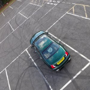 BallCam photo showing the car from above.